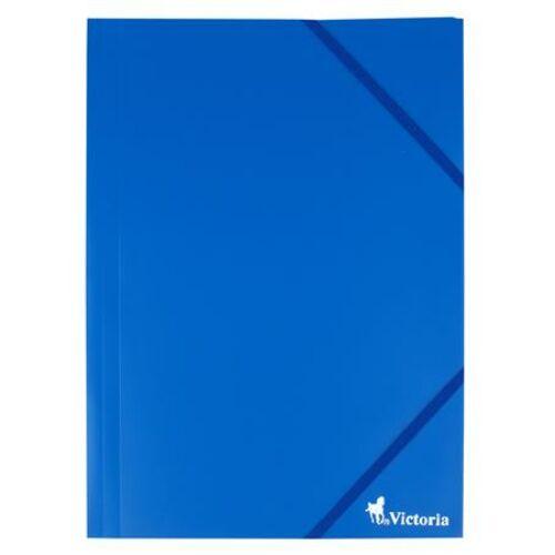 Gumis mappa, 15 mm, PP, A4, VICTORIA, kék