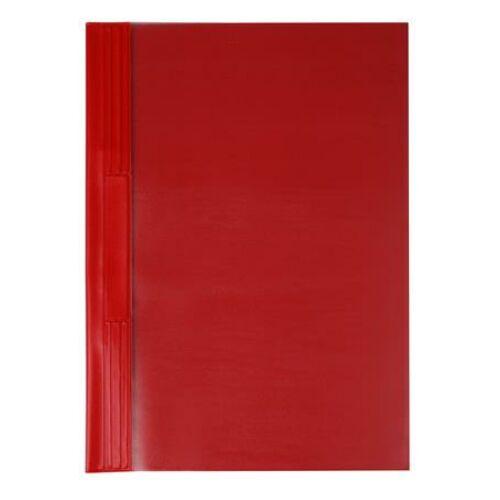 Gyorsfűző, kemény hátlappal, PVC, A4, VICTORIA, piros