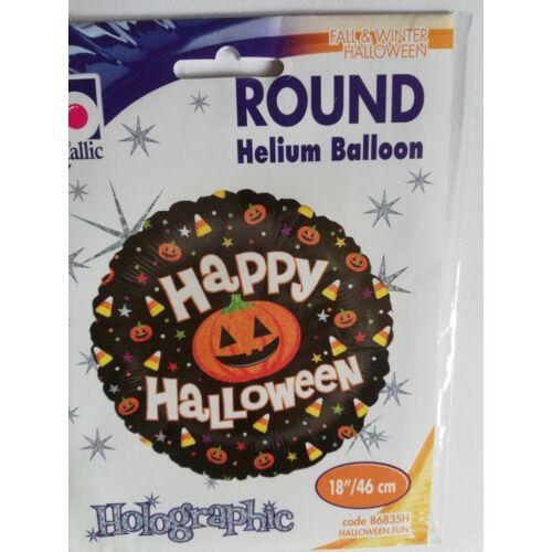 46 cm.-es Happy Halloween feliratos,hologramos fólia lufi