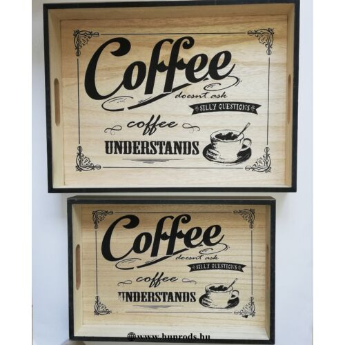 Fa tálca szett Coffee YX784072