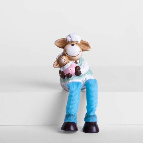 Kerámia bárány ülő barival fiú QXC786021