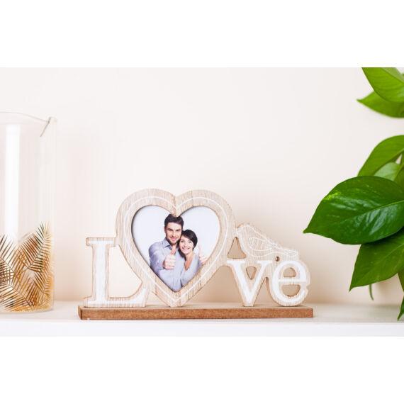 """Fa""""LOVE"""" felirat fényképtartóval SFT783372"""