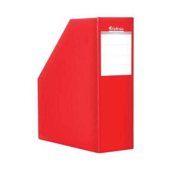 Iratpapucs, karton, 90 mm, VICTORIA, piros