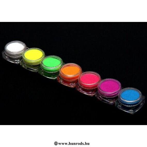 UV-Neon csillámpor szett 7 x 5ml Neon színek