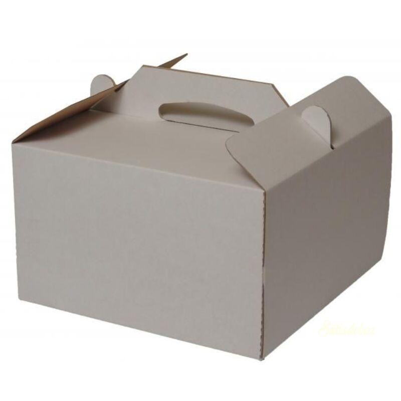 Tortadoboz füles papír 260x260x150mm