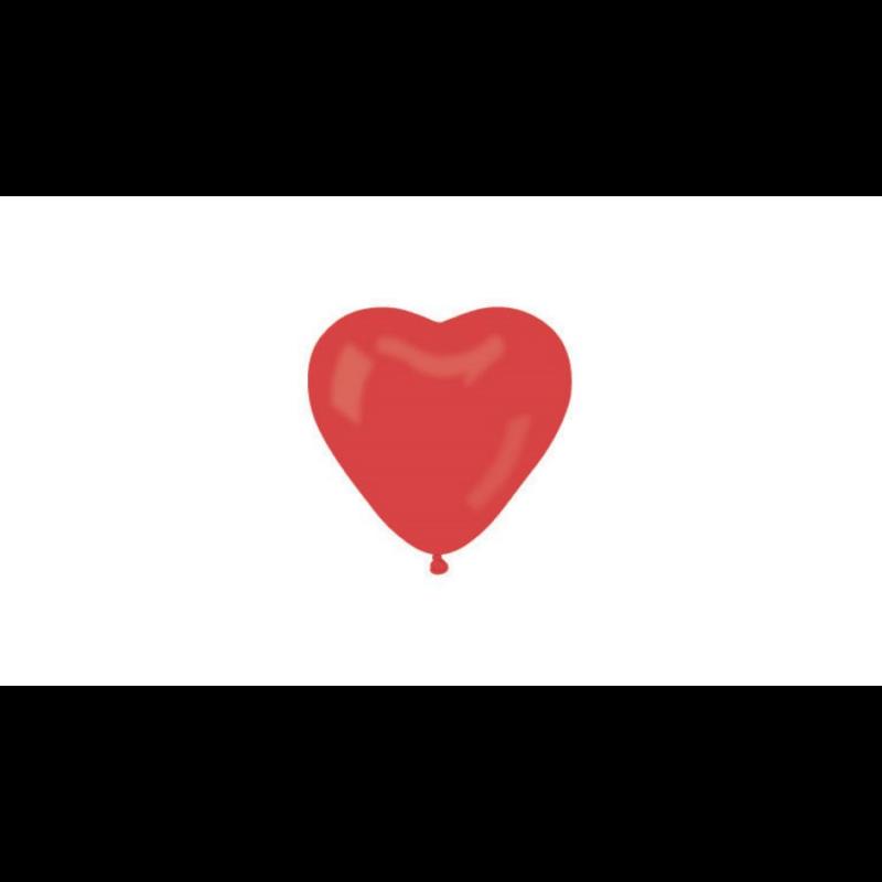 Szív alakú lufi 30cm piros