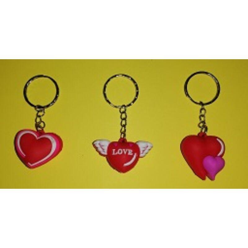 Kulcstartó szív gumi