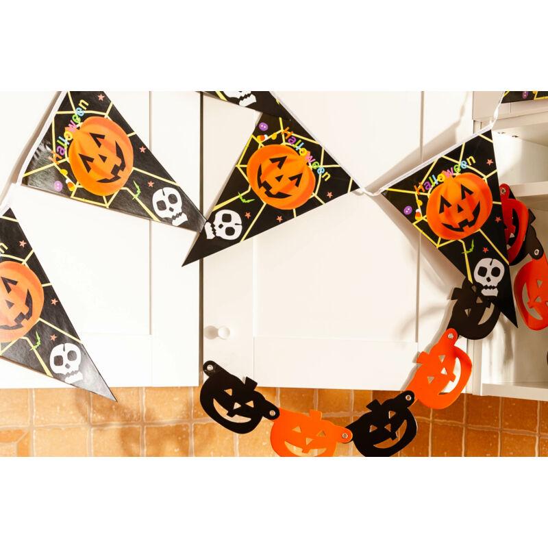 Halloween tök függő zászló dekoráció