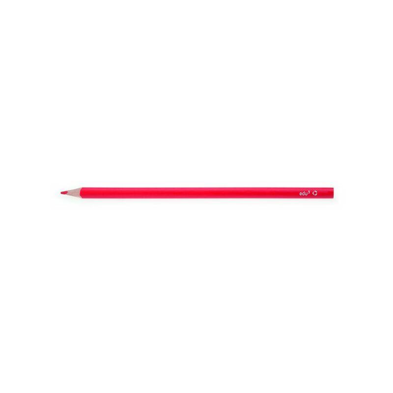 EDU3 színes ceruza háromszög vékony PIROS