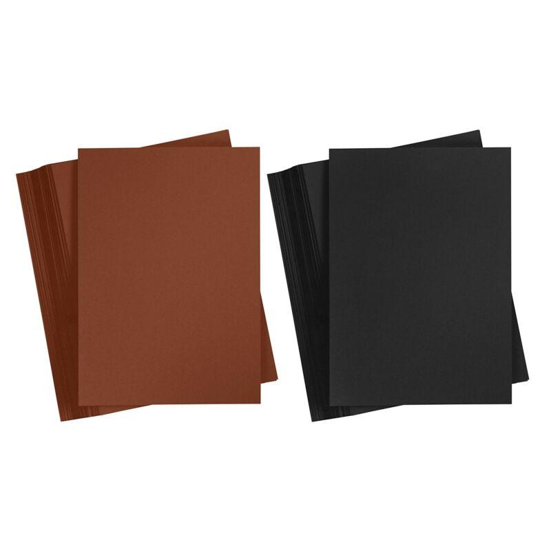 Színes karton A4 160gr. 5db/cs egyszín fekete,barna