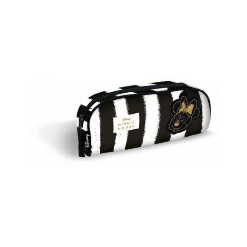Minnie Fashion Black Stripes bedobós tolltartó - Lizzy Card