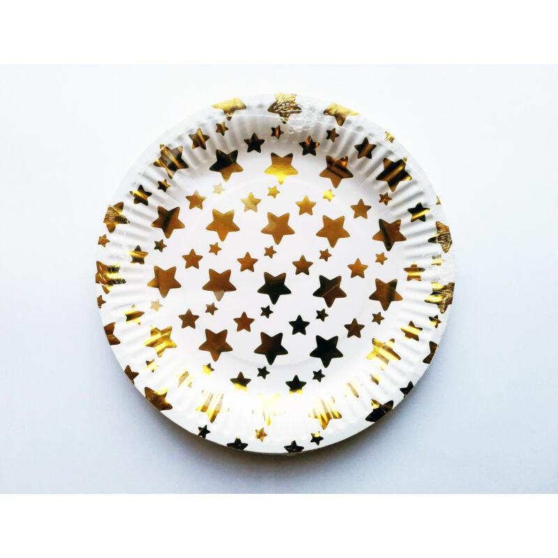 Papírtányér party csillag mintával