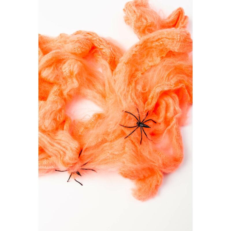 Pókháló és pók narancs színben