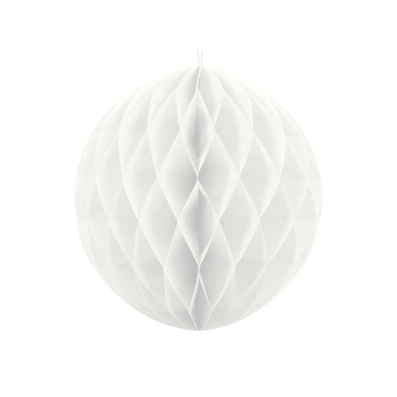 Lampion gömb fehér színben 30 cm