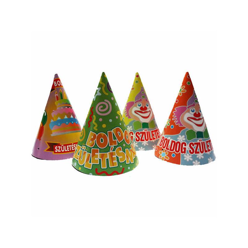 Boldog születésnapot party csúcsos kalap
