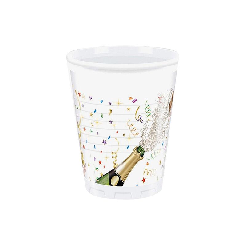 Műanyag pohár, pezsgős, 2dl, 8 db/cs