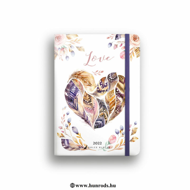 Dolce Blocco Secret Diary napi tervező 2022 Love B6