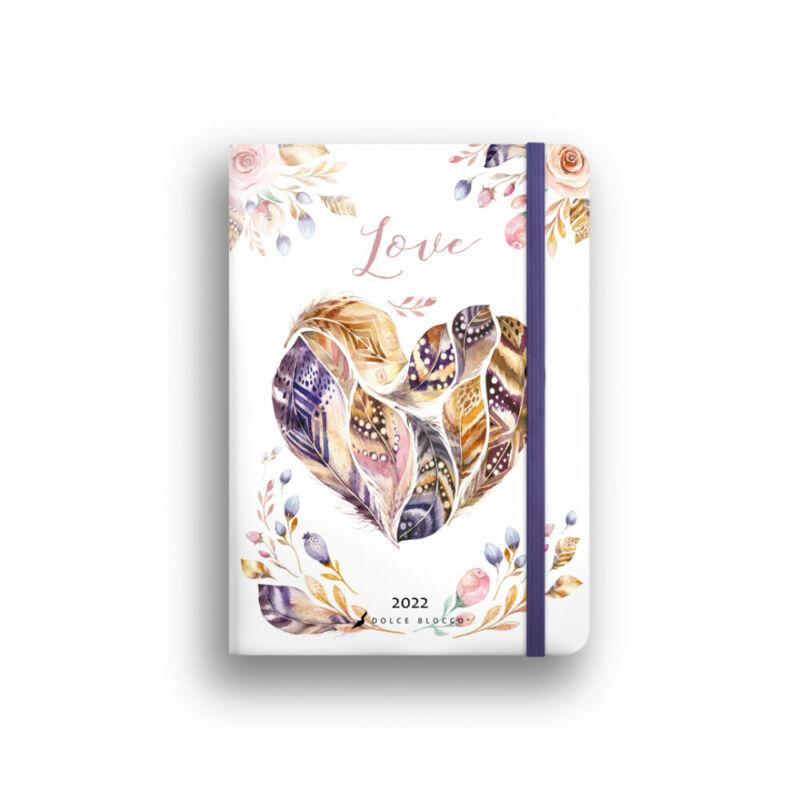 Dolce Blocco Secret Journal pontozott tervező 2022 Love B6