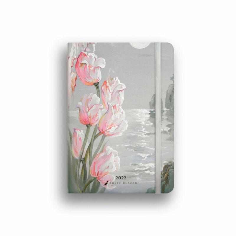 Dolce Blocco Secret Diary napi tervező 2022 Tulips Fantasy B6
