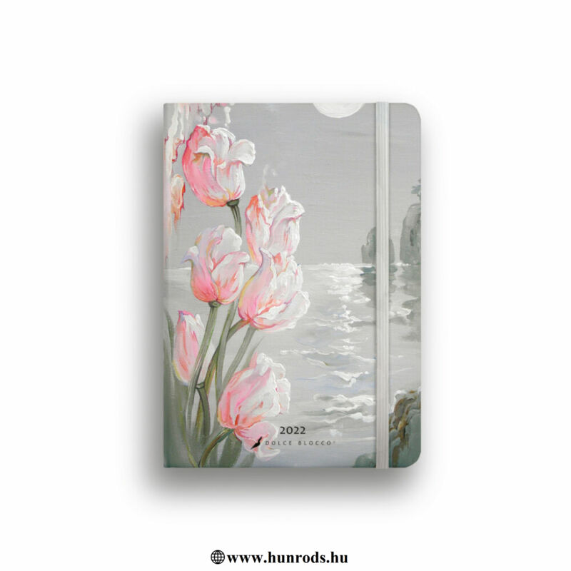 Dolce Blocco Secret Calendar Grande B6 heti tervező 2022 Tulips Fantasy