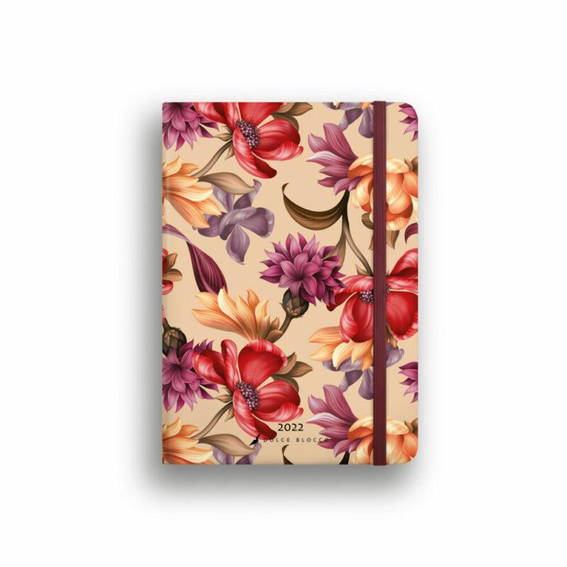 Dolce Blocco Secret Journal pontozott tervező 2022 Velvet Blossoms B6