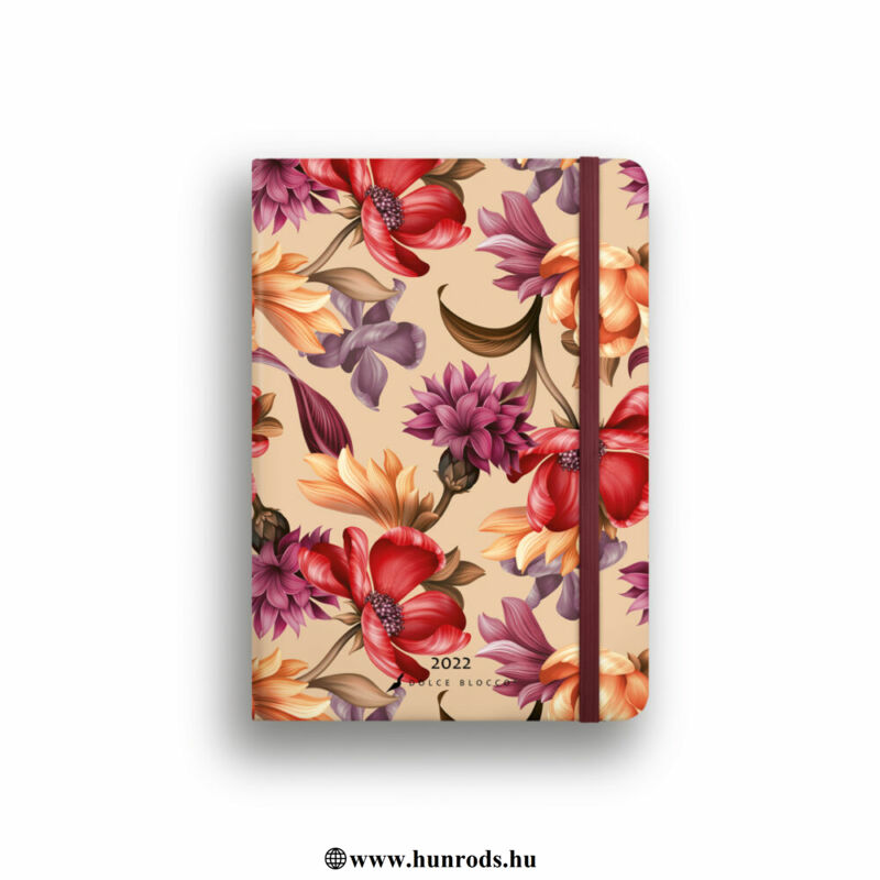 Dolce Blocco Secret Calendar heti tervező 2022 Velvet Blossoms B6