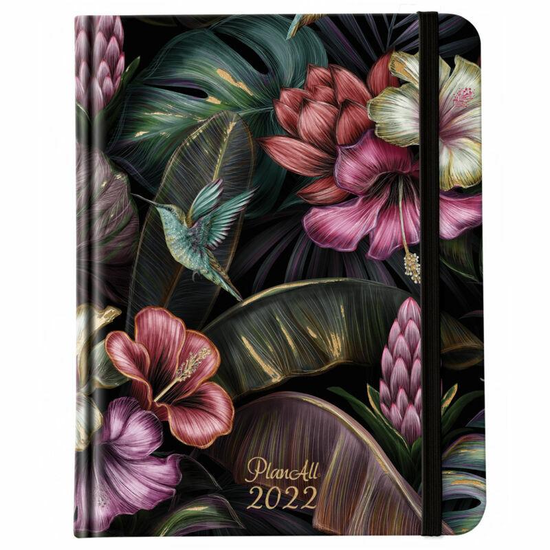 PlanAll All Weekly Book keményfedeles heti tervező 2022 Floral