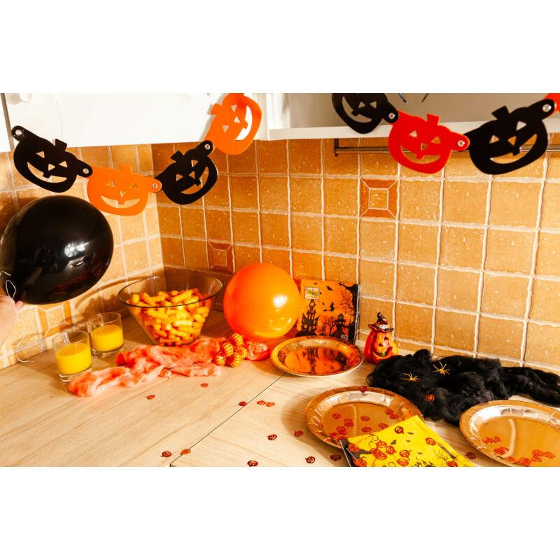 Halloween tök függő dekorációs füzér