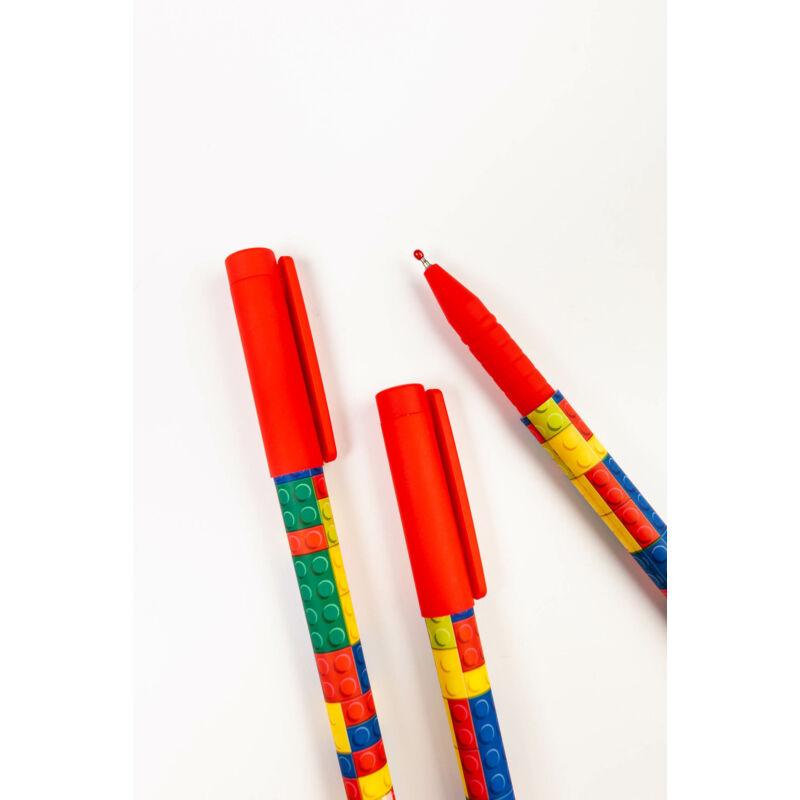 Zselés toll LEGO mintás
